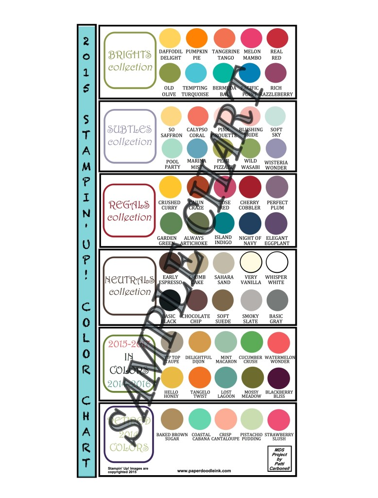 2015 Stampin' Up! Color Chart